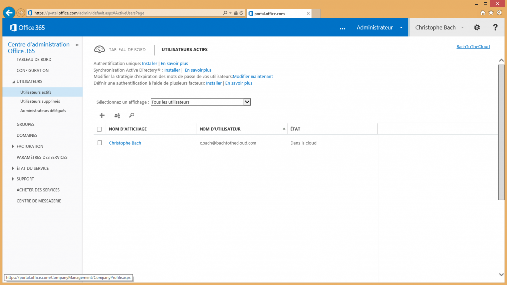 Office 365 - Thème basique
